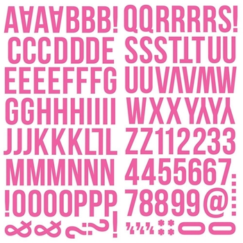 Simple Stories PINK Color Vibe Alpha Stickers 13436