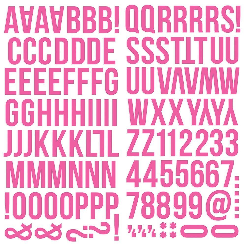 Simple Stories PINK Color Vibe Alpha Stickers 13436 zoom image