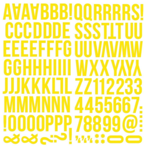Simple Stories YELLOW Color Vibe Alpha Stickers 13437 Preview Image