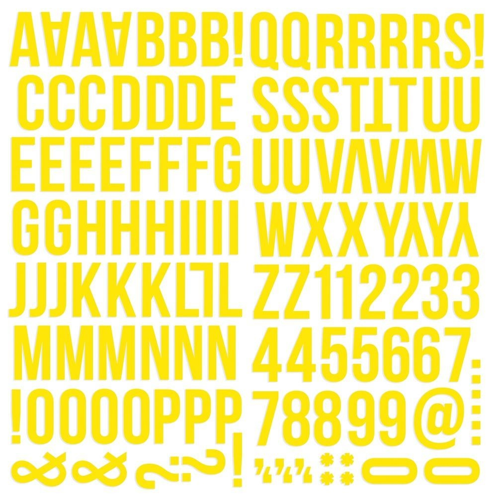 Simple Stories YELLOW Color Vibe Alpha Stickers 13437 zoom image
