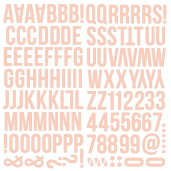 Simple Stories BLUSH Color Vibe Alpha Stickers 13441