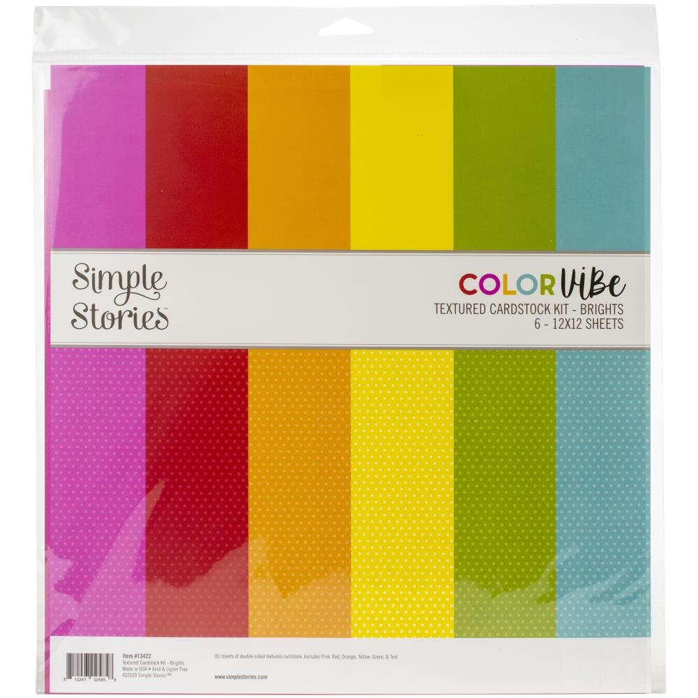 Simple Stories BRIGHTS 12 x 12 Color Vibe Paper Pack 13422 zoom image