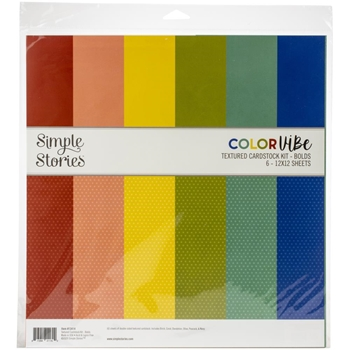 Simple Stories BOLD 12 x 12 Color Vibe Paper Pack 13414