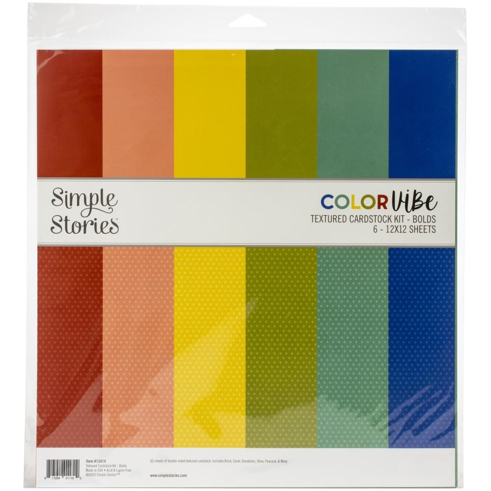 Simple Stories BOLD 12 x 12 Color Vibe Paper Pack 13414 zoom image