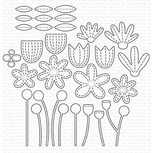 My Favorite Things STITCHED GARDEN Dies Die-Namics mft1730 Preview Image