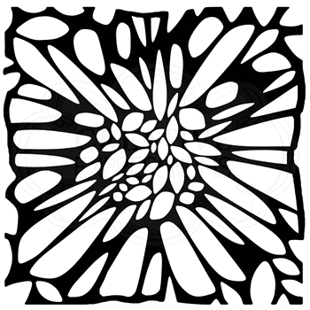 Woodware Craft Collection FLOWER CENTRE 6x6 Stencil frst036