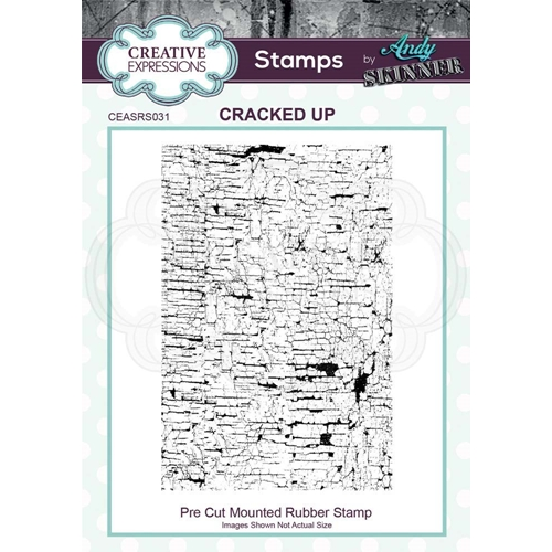 Creative Expressions CRACKED UP Andy Skinner Cling Stamp ceasr031 Preview Image