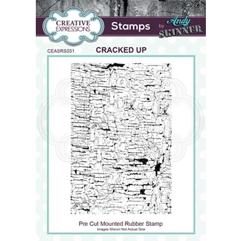 Creative Expressions CRACKED UP Andy Skinner Cling Stamp ceasr031
