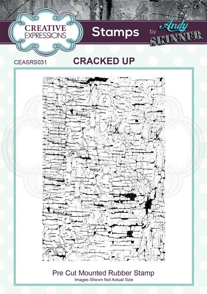 Creative Expressions CRACKED UP Andy Skinner Cling Stamp ceasr031 zoom image