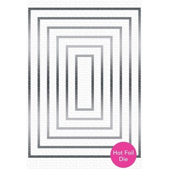 My Favorite Things FOILED FRAMES RECTANGLE Metal Plate mft1720