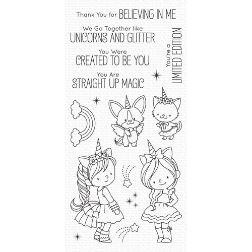 My Favorite Things UNICORNS AND GLITTER Clear Stamps bb100 Preview Image