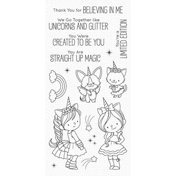 My Favorite Things UNICORNS AND GLITTER Clear Stamps bb100