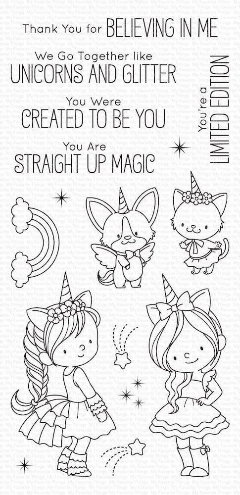 My Favorite Things UNICORNS AND GLITTER Clear Stamps bb100 zoom image