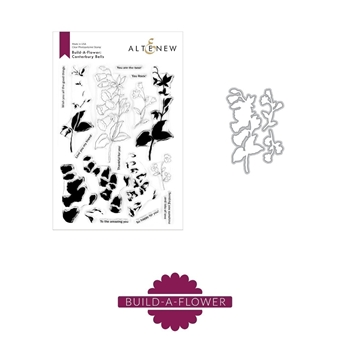Altenew BUILD A FLOWER CANTERBURY BELLS Clear Stamp and Die Bundle*