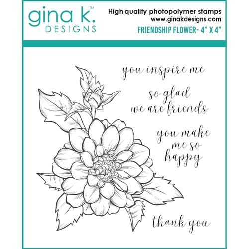 Gina K Designs FRIENDSHIP FLOWER Clear Stamps 6477 Preview Image