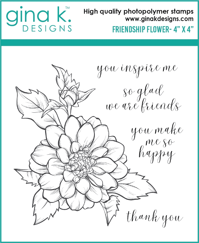 Gina K Designs FRIENDSHIP FLOWER Clear Stamps 6477 zoom image