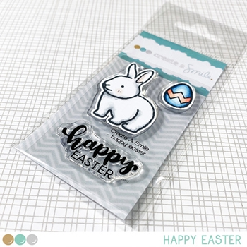 Create A Smile HAPPY EASTER Clear Stamps clcs134