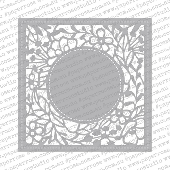 Paper Rose AMBERLEY FLORAL SQUARE Craft Die 18524
