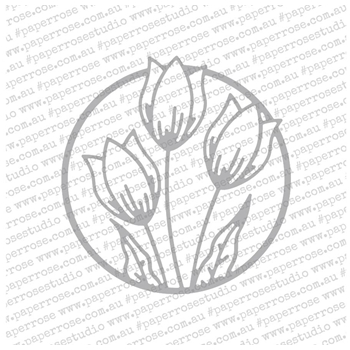 Paper Rose TULIP CIRCLE Craft Die 18682