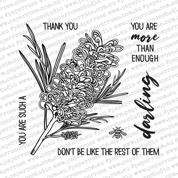 Paper Rose DARLING GREVILLEA Clear Stamp Set 18614