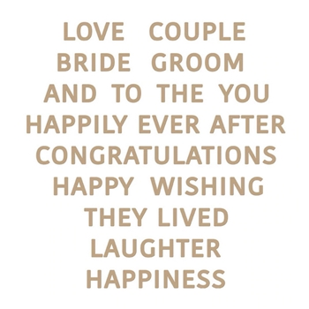 GLP-175 Spellbinders GLIMMERING WEDDING WISHES Glimmer Hot Foil Plate