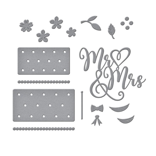 S4-1058 Spellbinders MR. AND MRS. WEDDING CAKE Etched Dies Preview Image