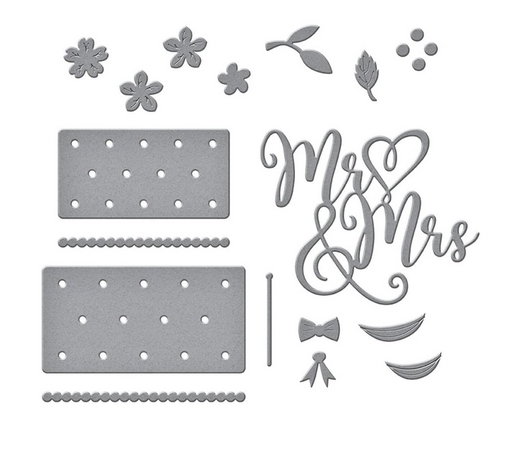 S4-1058 Spellbinders MR. AND MRS. WEDDING CAKE Etched Dies zoom image
