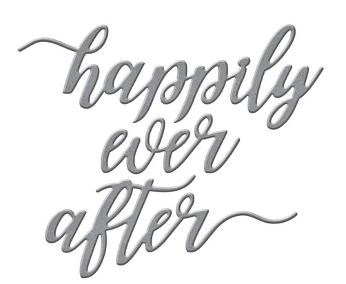 S2-308 Spellbinders HAPPILY EVER AFTER SENTIMENT Etched Dies zoom image
