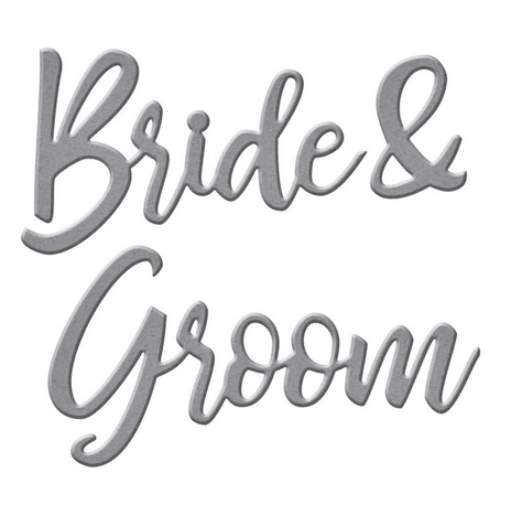 S2-307 Spellbinders BRIDE AND GROOM SENTIMENT Etched Dies Preview Image