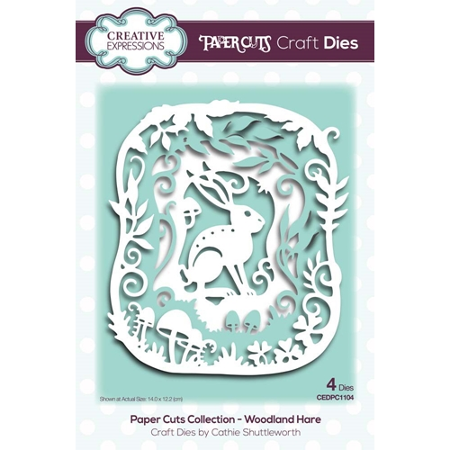 Creative Expressions WOODLAND HARE Paper Cuts Collection Dies cedpc1104 Preview Image