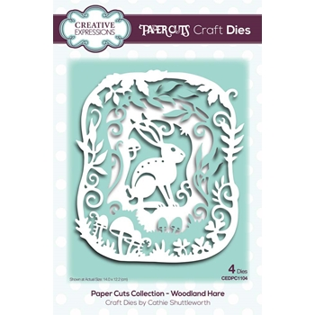 Creative Expressions WOODLAND HARE Paper Cuts Collection Dies cedpc1104