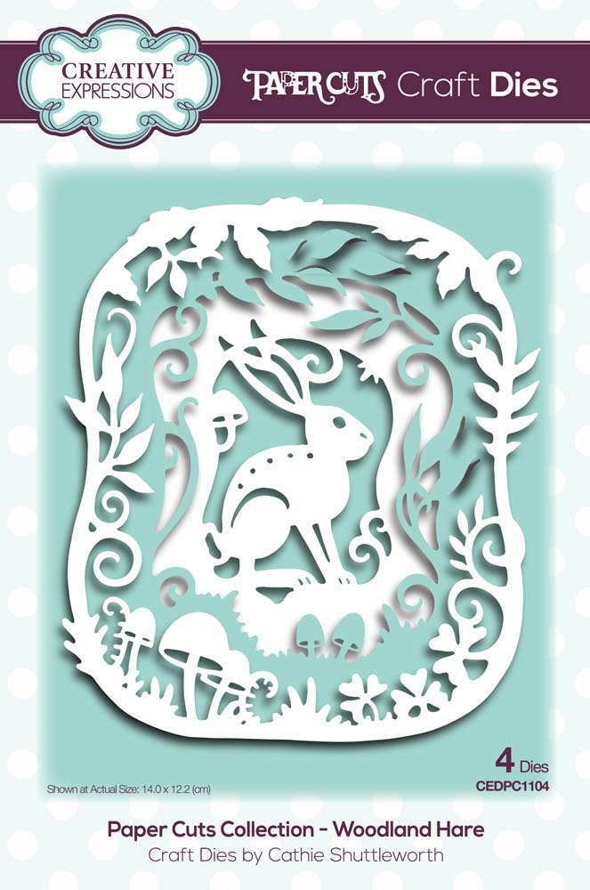 Creative Expressions WOODLAND HARE Paper Cuts Collection Dies cedpc1104 zoom image