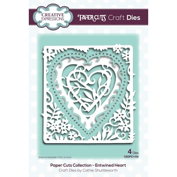Creative Expressions ENTWINED HEART Paper Cuts Collection Dies cedpc1103