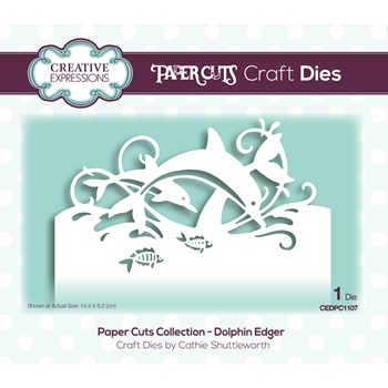 Creative Expressions DOLPHIN EDGER Paper Cuts Collection Dies cedpc1107