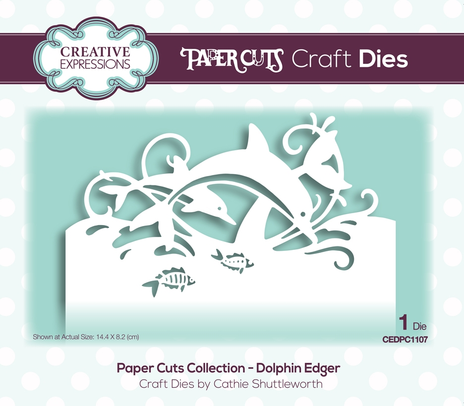 Creative Expressions DOLPHIN EDGER Paper Cuts Collection Dies cedpc1107 zoom image