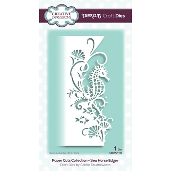 Creative Expressions SEA HORSE EDGER Paper Cuts Collection Dies cedpc1106