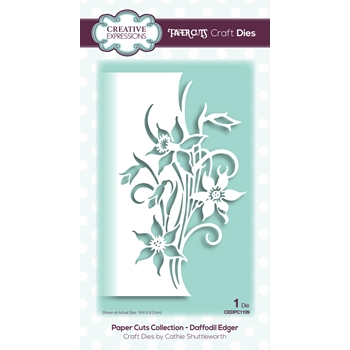 Creative Expressions DAFFODIL EDGER Paper Cuts Collection Dies cedpc1109