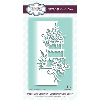 Creative Expressions CELEBRATION CAKE EDGER Paper Cuts Collection Dies cedpc1111