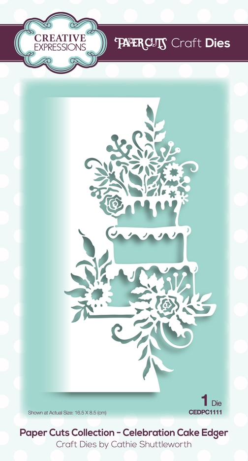 Creative Expressions CELEBRATION CAKE EDGER Paper Cuts Collection Dies cedpc1111 zoom image