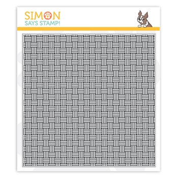 Simon Says Cling Stamp BASKET WEAVE sss102130