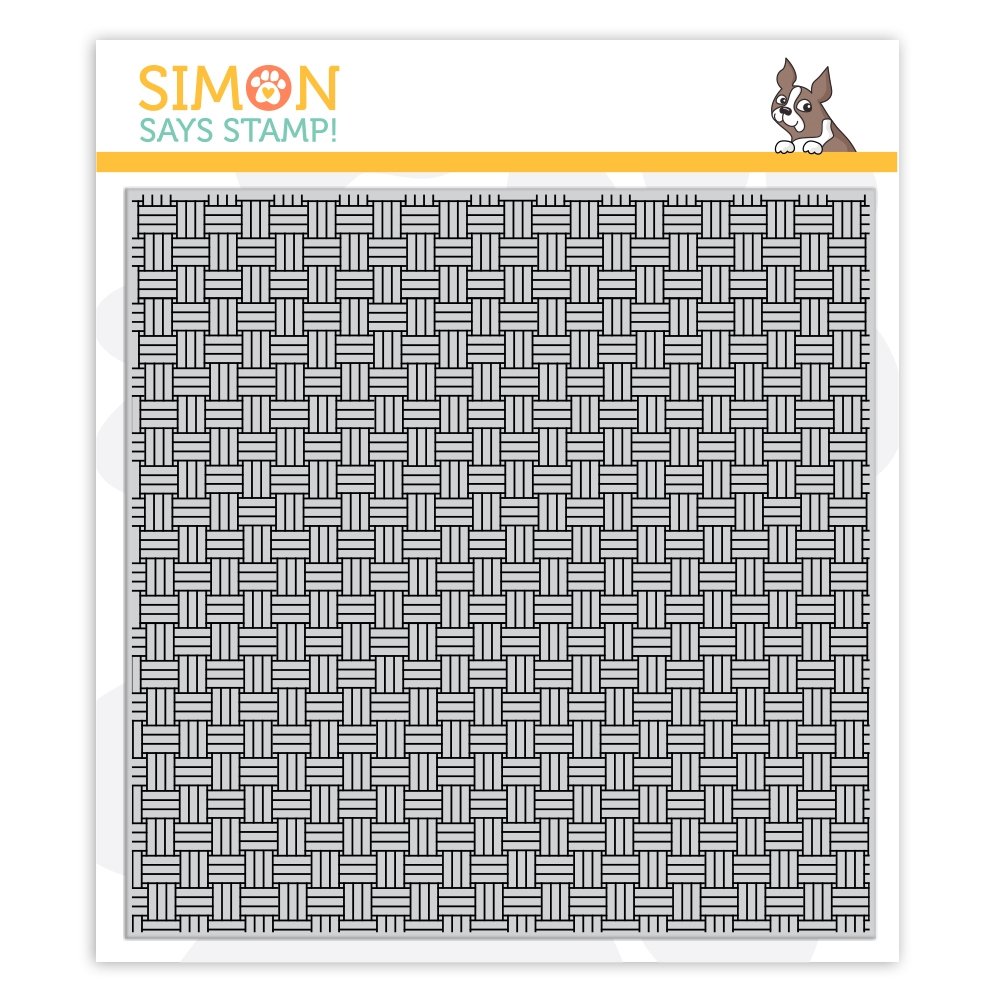 Simon Says Cling Stamp BASKET WEAVE sss102130 zoom image