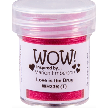 WOW Embossing Powder LOVE IS THE DRUG WH33R