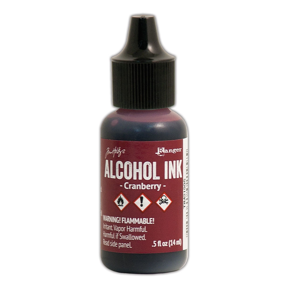 Tim Holtz Alcohol Ink CRANBERRY Ranger TIM21995 zoom image