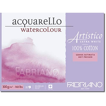 Fabriano WATERCOLOR PAPER 9x12 BLOCK Hot Press 149590