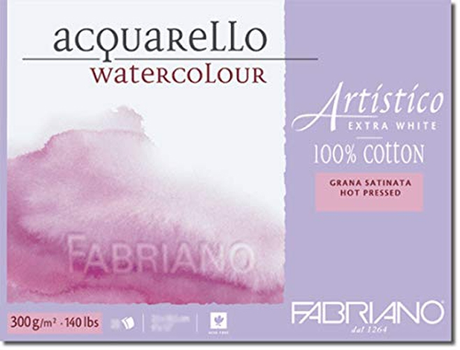 Fabriano WATERCOLOR PAPER 9x12 BLOCK Hot Press 149590 zoom image
