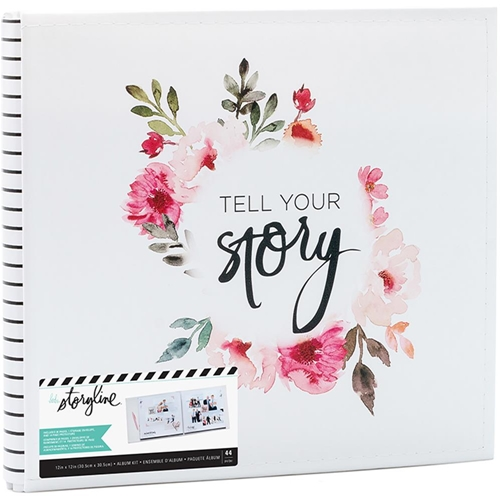 Heidi Swapp STORYLINE 12 X 12 POST BOUND ALBUM TELL YOUR STORY 314028* Preview Image