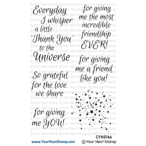 Your Next Stamp THANK YOU UNIVERSE Clear cyns766 Preview Image