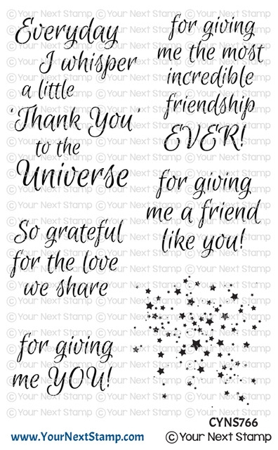 Your Next Stamp THANK YOU UNIVERSE Clear cyns766 zoom image