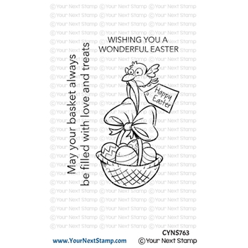 Your Next Stamp BIRDIE EASTER BASKET Clear cyns763