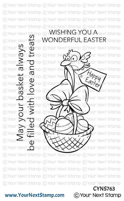 Your Next Stamp BIRDIE EASTER BASKET Clear cyns763 zoom image